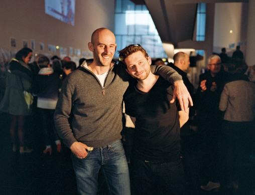 Damien et Nicolas au vernissage de l'expo Brest à Quai